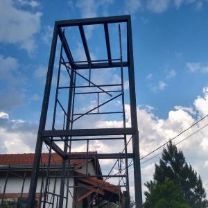 Estrutura metalica para caixa d água